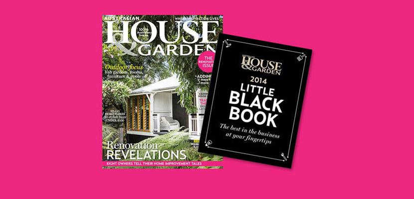 Australian house garden magazine s little black book for Best garden design books 2015