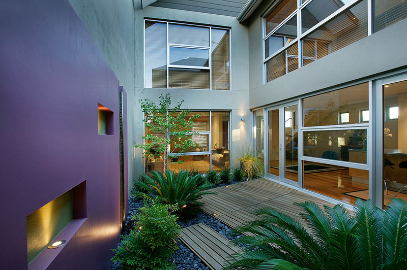 small luxury courtyard