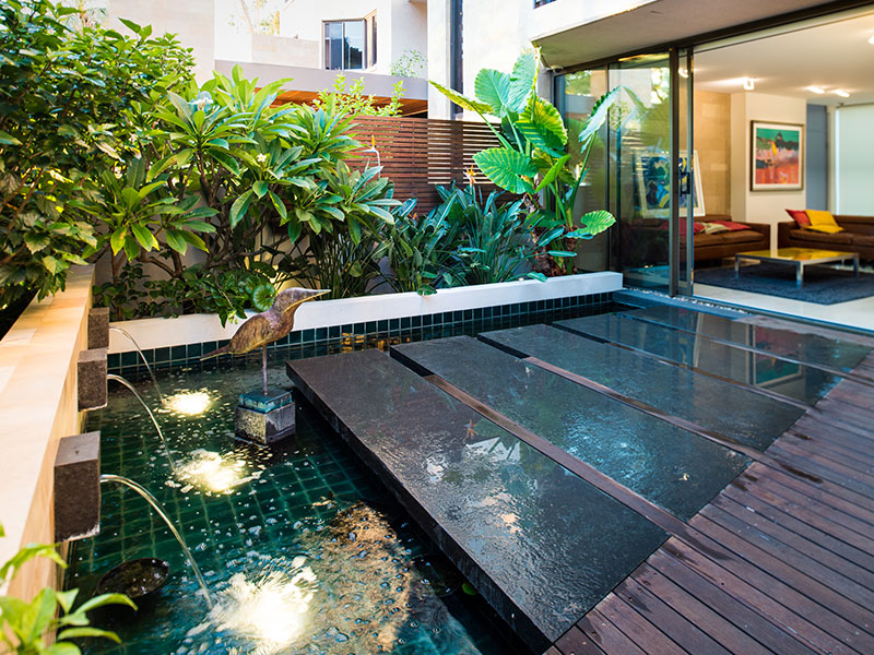 City apartment with amazing outdoor area
